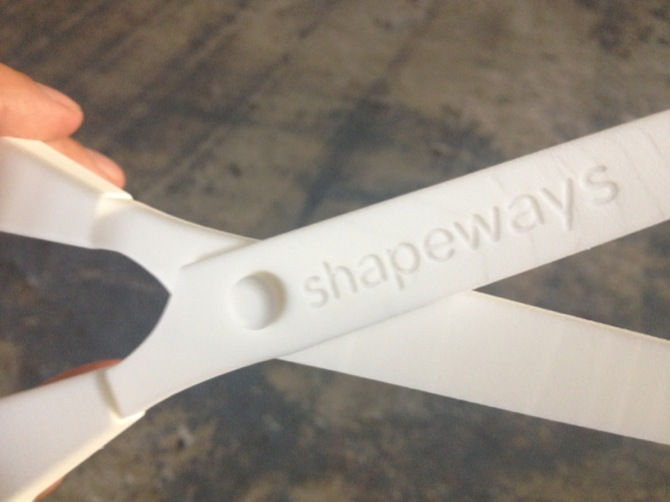 3D-printed scissors - Bloomberg at Shapeways